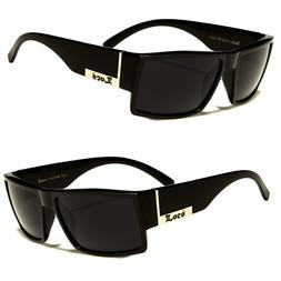 Men Dark Lens Gangster Black Og Sunglasses Locs Biker Glasse