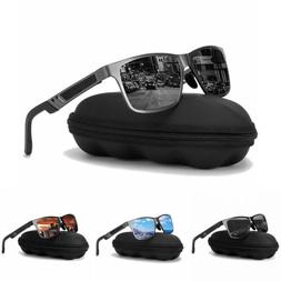 Men HD Polarized Retro Sunglasses Al-Mg Metal Frame Outdoor