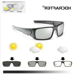Men's Photochromic Polarized Sunglasses UV400 Transition Len