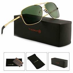 SUNGAIT Men's Polarized Sunglasses Durable Metal Frame for F