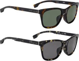 Hugo Boss Men's Rounded Browline Classic Havana Sunglasses -