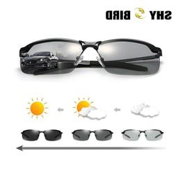 Men Polarized Photochromic Sunglasses UV400 Driving Transiti