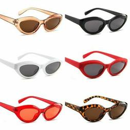Men Women Small Oval Sunglasses Metal Frame Cool Shades Glas