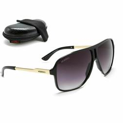 Men Womens Retro Unisex Sunglasses Aviator Matte Black Carre