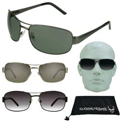Mens Aviator Big Sunglasses Big Head Big & Tall Glasses Wide