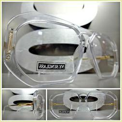 Mens Classic RETRO HIP HOP Style Clear Lens EYE GLASSES Tran