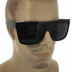 MENS Limo Large Black Flat Top Oversize Gangster Rectangular