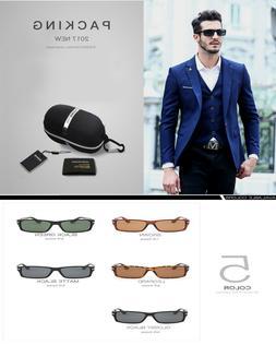 Mens Polarized Driving Classic Sunglasses Black UV400 Eyewea