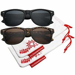 grinderPUNCH Men's Polarized Sunglasses - Flat Matte Frame