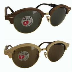 Ray Ban Mens RB4246M Clubround Wood Polarized Sunglasses