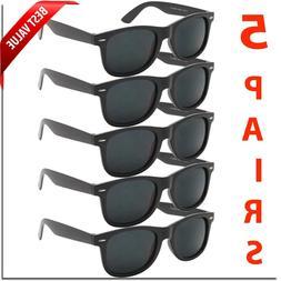Mens Sunglasses Wayfare Style Reto Classic 5 PACK Sunglass B