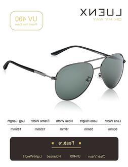 LUENX Mens Womens Aviator Sunglasses Polarized Mirror With C