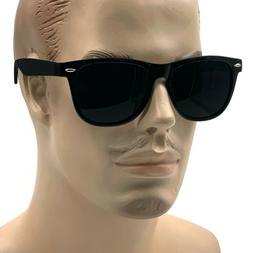 MENS XL Wide Frame Limo Tint Sunglasses Tall Super Dark Lens
