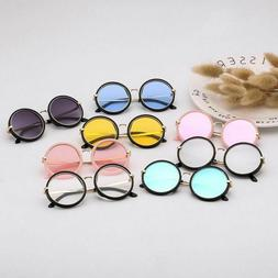 Metal Marine Lens Round Sunglasses Children Cute Candy Color