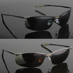metal men polarized sunglasses sport wrap around