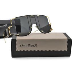 Metal Rivet Oversized Sunglasses Women Fashion Ins Outdoor S