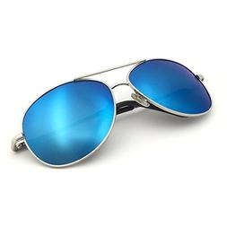 J+S Premium Military Style Classic Aviator Sunglasses, Polar