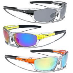 Mirrored Men Boys Sport Wrap Sunglasses Ski Cycling Baseball