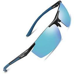 Mirrored Sunglasses Polarized UV Protection For Men Women Fi