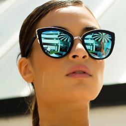 """MY Cat Eye """"Ronette"""" Mirrored Sexy Women's Sunglasses Metal"""