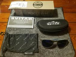 Native Sanitas Sunglasses - Driftwood w/ Blue Reflex Lens -