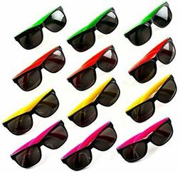 Neliblu Neon Bulk Kids Sunglasses Party Favors - 24 Pack - B