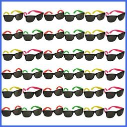Funny Party Hats Neon Sunglasses 36 Pack Bulk Glasses Pool B