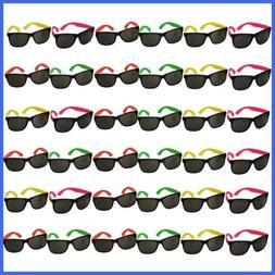 neon sunglasses 36 pack bulk glasses pool