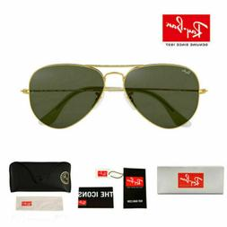 New 2020 Ray Ban RB3025 Gold Frame Classic Crystal  Sunglass