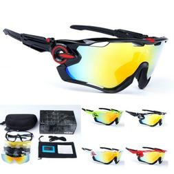 Men's 5 Pair Lens Polarized UV400 Cycling Bicycle Sunglasses