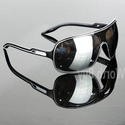 New 80s Mens Women Wrap Around Sunglasses Large Retro Vintag