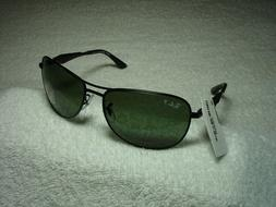 New Authentic RAY-BAN RB3519 Matte Black Sunglasses POLARIZE