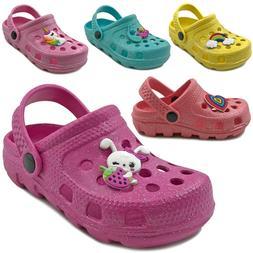 New Baby Toddler Girls Clog Sandals Cute Soft Rubber Slipper