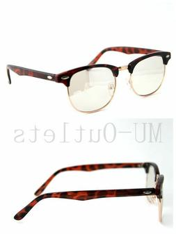 New Classic Clear Lens Clubmaster Wayfare Half Metal Frame S