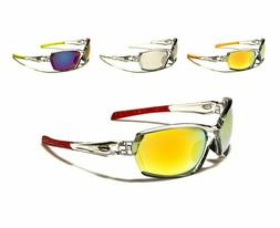 New X Loop Designer Mirror Sport Sunglasses With Plastic Fra
