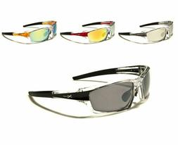 New X Loop Designer Sport Mirror Sunglasses With Plastic Fra