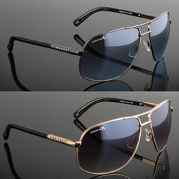 New Designer Square Aviator Sunglasses Metal Bar Retro Frame