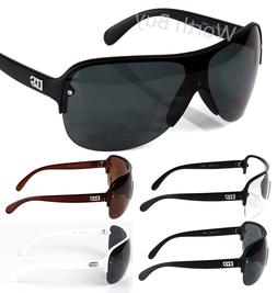 New DG Mens Fashion Shield Designer Wrap Around Sunglasses S