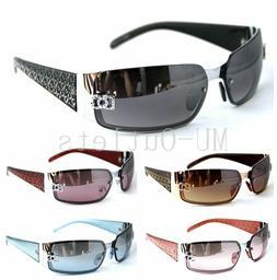 New DG Mens Womens Rectangular Rimless Designer Sunglasses S