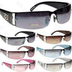 New DG Mens Womens Rectangular Rimless Designer Sunglasses S