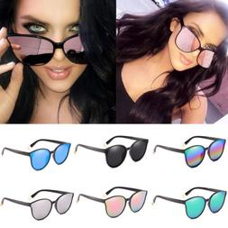 New Fashion Oversized Sunglasses Cat Eye Flat UV400 Eyewear