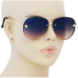 New Fashion Rimless Sunglasses Men Women Vintage Gold Small