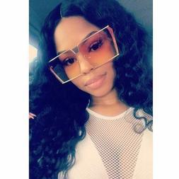 New Flat Top Designer Oversized Sunglasses Color Lens Square