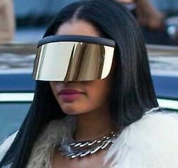 NEW Futuristic Oversized XXL Shield Visor Sunglasses Flat To