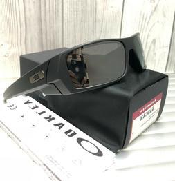 New Oakley GASCAN Sunglasses 12-856 Matte Black Iridium Pola