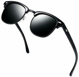NEW Joopin Semi Rimless Polarized Sunglasses Women Men Retro
