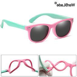 WarBlade New Kids Polarized Sunglasses TR90 Boys Girls Sun <