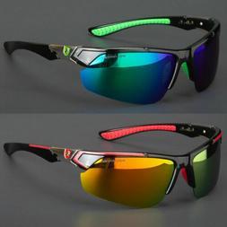 New Men Polarized Sunglasses Sport Mirror Wrap Around Drivin