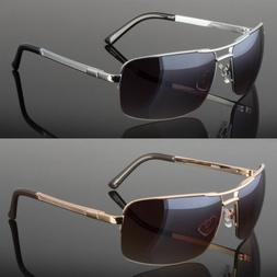 New Men Classic Sunglasses Metal Driving Glasses Aviator Out