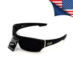 New Men's Locs Sunglasses Matte Black Frame with Very Dark L